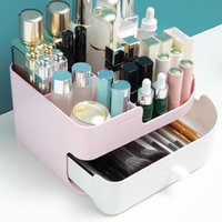 Storage Boxes & Bins Durable Cosmetic Container Makeup Organizer Drawer Holder Dustproof Case Simple For Women