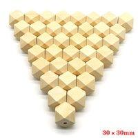 Branelli distanziali di legno Geometri geometrici naturali gioielli geometrici fai da te collana di legno che fanno scoperte 100pcs / lot 10-20mm
