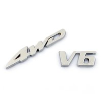 3D Chrome Metal 4WD V6 Trunk Trunk posteriore posteriore Fender Emblem Badge Decal Sticker SUV