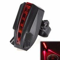 2 laser + 5 LEDs feixe de segurança aviso vermelho lâmpada traseira Bicicleta de bicicleta luz piscando Modelo Night Segurança para aviso de bicicleta Accessorie