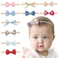 Recién nacido bebé diademas 3 unids / conjunto diadema elástica niños accesorios para el cabello niños lindos lindos bandas de nylon arco cabeza de cabeza tocado para niños pequeños kha604
