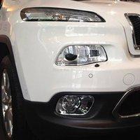 Per Jeep Cherokee 2014-2016 2017 2017 2018 cromato testa anteriore fendinebbia lampada foglight copertura di copertura per la foglia di stampaggio accessori per auto esterno
