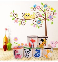 Дети мультфильм игрушка хранения корзины складной белья корзина для детей складной одежды для хранения детей детские игрушки организатор хранения баррель DWF5557