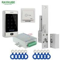 Kit de controle de acesso de porta de Raykube Conjunto de bloqueio de parafuso elétrico + leitor de frid do metal para a porta do vidro do escritório