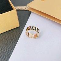 Designer Fashion Ring Luxury Men's and Women's Rings Gold Couples Högkvalitativa Smycken Enkel Personlighet
