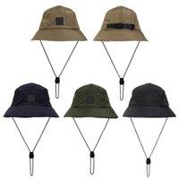 New Style Bucket Cappello Pieghevole Pescatore Cappelli Unisex Outdoor Sunhat Escursionismo arrampicata Caccia Beach Pesca Cappucci da pesca regolabili Dragare il tappo
