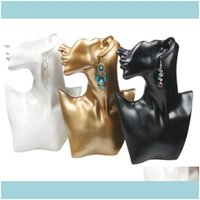 Packaging Jewelrypackaging & Jewelryunique Necklace Earring Display Bust Resin Head Model Jewelry Stand Neck Form For Jewellery Window Shelf