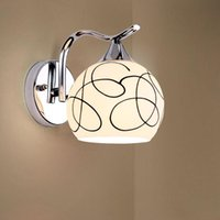 Fashion E27 LED lampe murale 110V-220V LOFT Lighting Home Lighting Modern ne prend pas en charge la garantie des lampes murales blanches intelligentes 3 ans