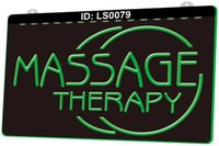 LS0079 Massage Therapy Body Open Light Sign 3D Engraving