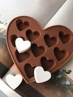 Moule de silicium de silicium en forme de coeur NO-Stick Fuce de gaufre de poule pâtisserie pâtisserie pâtisserie Cuisson de cuisson bricolage DIY décorer les outils de gâteau CPA3411