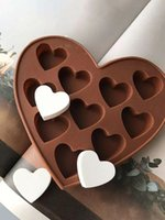 Herzförmige Silikon-Schokoladenform-Antihaft-Waffel-Chip-Formteig Backschokolade-Backformen DIY Dekorieren Kuchenwerkzeuge CPA3411