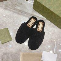 Desenhista moda Últimas Sandálias de Chinelos de Mulheres Importado Material de Lã Luxo Logotipo Personalizado Macio e confortável 35-40