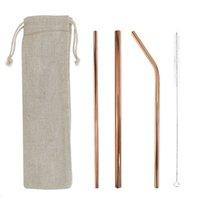 5 Içme Saman Seti Geniş Kullanımlık Paslanmaz Çelik Düz Çilekler Içme Pipetleri Içme Pipetler Ile Süt İçecek Y0707 Için Temizleme Fırçası