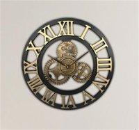 럭셔리 벽시계 산업용 기어 벽 시계 장식 복고풍 금속 산업 나이 스타일 룸 장식 벽 아트 장식 91 v2