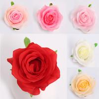 50 unids Rose Flores artificiales Accesorios de fiesta de boda DIY CRAFT Decoración para el hogar Hecho a mano Flower Guirnalda Suministros W-00691