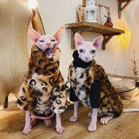 Trajes de gato Perro suave Perro Mascota Pelaje con capucha Capucha Capa de pelo Chaqueta de invierno Kitty Pequeños Perros Medianos Gatos Cool Pijamas Chihuahua Ropa