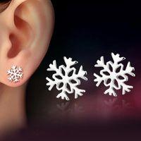 2021 S925 orecchini in argento sterling coreano classico inverno neve amore fidanzata compleanno Natale nuovo anno regalo regalo regalo di San Valentino