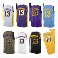 Özel adlandıran ad numarası 13 Wilt Chamberlain Beyaz Siyah Sarı Mavi Yeşil Kahverengi Basketbol Forması Erkek Kadın Gençlik Formaları