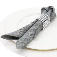 """12 """"guardanapo de mesa de mesa de linho poliéster quadrado Bolso Handkerchief Mesa de cetim Ganhos de jantar para o casamento Decoração da festa em casa"""