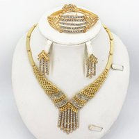 Earrings & Necklace Gold Women Sets Earring For Dubai Jewelry African Beads Set Fashion Wedding