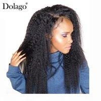 13x6 perruque droite perruque 250% densité de dentelle brésilienne frontale perruques de cheveux humains pour femmes Naturel Noir Prequa Dolago Remy