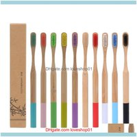 Toothbrushes Bath Supplies Home & Gardennatural Bamboo Soft Bristle 12 Styles Business Man Disposable El Room Toothbrush Replacement Drop De