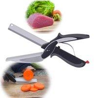 سكاكين مطبخ متعدد الوظائف مقص الخضروات المقاوم للصدأ الفولاذ المقاوم للصدأ جودة عالية الذكية الخضروات مقص المطبخ سكين HHE8912