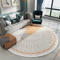 Teppiche Nordic Wohnzimmer Flauschige runde Teppich Teppiche für Dekoration Moderne Kissen Schlafzimmerbereich