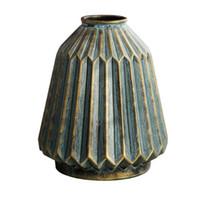 Mão soprada vaso vaso antigo angustiado flower flower flower arranjo decoração retro ornamentos sorte antiguidade