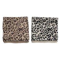 Le donne vintage leopardo stampa a maglia sciarpa lunga stile coreano harajuku spessa larghezza scialle wrap coperta collo scalda sciarpe sciarpe