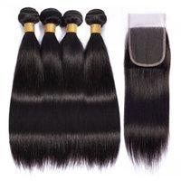 Virgin hair Brazilian Indian Straight Bodywave Curly Bundles with 4*4 Closure