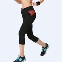 Women's Leggings Women Stitching Color Fitness Quick Drying Exercise Mid Calf Energy Pants Trousers Ropa Mujer