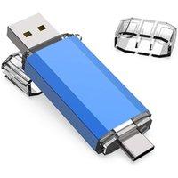 Hubs USB Flash Drive 3 IN 1 USB3.0 & Type C OTG Pen 32GB 64GB 128GB 256GB 512GB High Speed Stick Pendrives