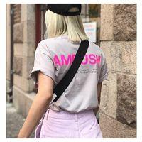2021 Yaz Yeni O-Boyun Pusu Kısa Kollu Erkek Ve Kadın Mektup Baskılı Pamuk-Gömlek Hip Hop T-shirt 0Cor