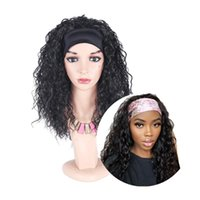 Synthetic Wigs Natifah Hair Water Wave Headband Wig Natural Fake Brazilian Curly Glueless Wholesale For Braids