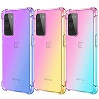 그라디언트 다채로운 Shockproof 투명 TPU 전화 케이스 onePlus Nord N100 N10 9 플러스 8T 8 7T 7 6T Pro Shock-흡수 구석 핸드폰 커버