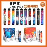 Аутентичные EPE UNIK PLUS Одноразовый Vape 2500Установок 1600 мАч Батарея 10 Цветов Предварительно заполненные 9,5 мл Pods E Cigarettes Vaporizers