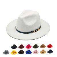 المرأة الجديدة chapeu feminino fedora قبعة لاداي واسعة بريم سمبروس جاز الكنيسة كاب بنما فيدورا الأعلى قبعة
