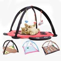 Cat Beds & Furniture Pet Bed House Cartoon Tent Hammock And Toy Kitten Play Sleeping Balls Supplies