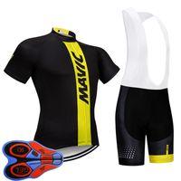 Mavic Takım Erkekler Bisiklet Jersey Önlüğü Şort Takım Yaz Nefes MTB Bisiklet Giyim Dağ Bisikleti Giymek Ropa Ciclismo S21070816