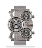 Oulm Brand Organic High Hardness Glass Military Mens Watch Special 53MM Shape Dial Accurate Quartz Male Wrist Watches Manufacturers Direct Wholesale