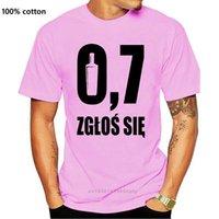 Trend-Stil-Männer T-shirts Smieszna Koszulka Polska Alkohol Kurzarm T-Shirts Smieszne Modische Baumwolle gedruckt Rundoberseiten