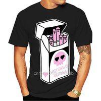Men's T-Shirts 2021 Leisure Fashion 100% Cotton O-neck T-shirt Emotionally Unstable Kawaii Pastel Goth Cigarette Digital Printed