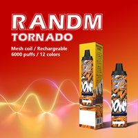 Original Randm Tornado 6000 Puffs Einweg-E-Zigarette RM Typ-C Wiederaufladbare Vapes