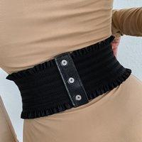Belts 649D Women Wide Stretchy Cinch Belt Retro Chunky Waistband Design Waist Cincher