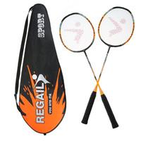 2 joueurs Badminton Raquette Raquette Ensemble de remplacement ultra léger en fibre de carbone de badminton avec sac