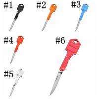 2021 جديد مفتاح الشكل متعدد الوظائف مفتاح سكين مصغرة قابلة للطي سكين الفاكهة سكين في صابر السويسري الدفاع الذاتي السكاكين EDC أداة والعتاد WLL2