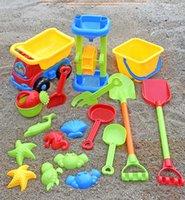 Children's beach toy car set cassia digging sand shovel bucket baby boys and girls set