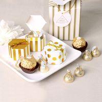 Geschenkbox gestreifter Punkte boite Drages Bonbonniere Verpackung Hochzeit Favor Boxen für Candy Cake Party vorhanden Schokolade süße Taschen