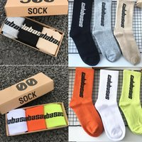 amantes dos homens meias atléticas caber 35-45 Temporada 6 Calabasas Skate Moda Mens Carta Impresso Socks Sports Socks Sockings Hip Hop